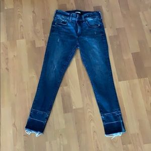 Express cropped legging mid rise jean sz 2